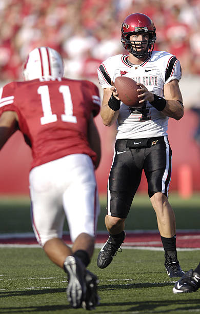 Aztec Quarterback Darren Mougey During The Game Between Wisconsin Badgers And San Diego State