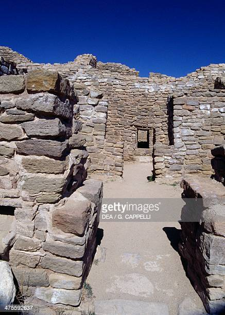 Aztec Ruins, one of the largest cities of the Anasazi, Aztec Ruins National Monument, New Mexico, United States. Anasazi Civilisation.