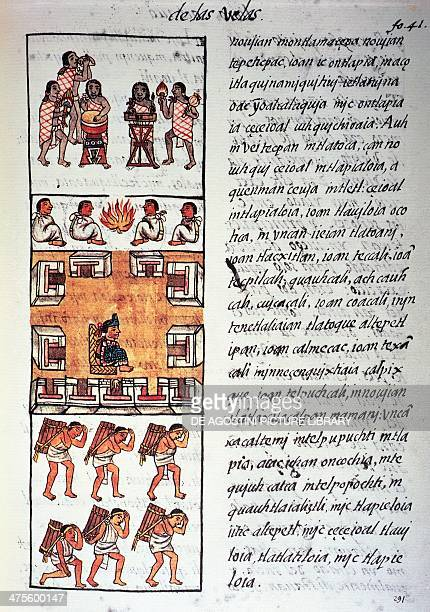Aztec society musicians the king and merchants text in Nahuati from the facsimile of the manuscript General History of the Things of New Spain also...