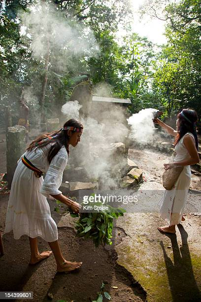 Aztec Temazcal sweat lodge purification ceremony