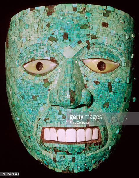Aztec Turquoise Mosaic MaskMask representing a god Aztec/Mixtec Mexico early 16th century A turquoise and shell mask usually thought to represent the...