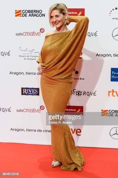 Azucena de la Fuente attends the 23rd edition of Jose Maria Forque Awards at Palacio de Congresos on January 13 2018 in Zaragoza Spain