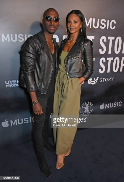 Azuka Ononye and Alesha Dixon attend the London screening of 'Can't Stop Won't Stop A Bad Boy Story' presented by Apple Music at The Curzon Mayfair...