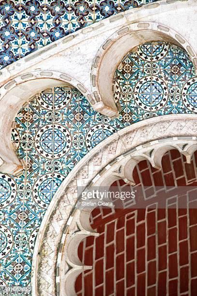 azulejo in sintra - sintra fotografías e imágenes de stock