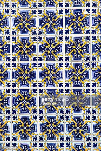 Azulejo tile pattern on building
