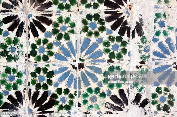 Azulejo tile pattern on building