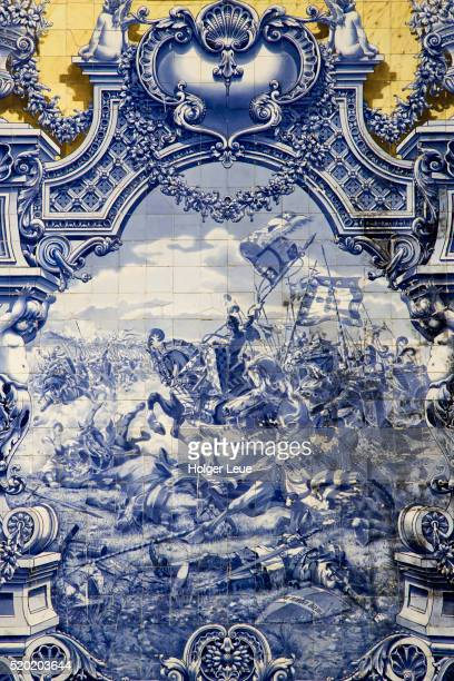 Azulejo tiles on Pavilhao Carlos Lopes at Parque Eduardo VII