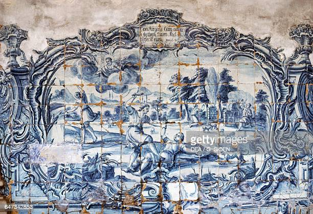 Azulejos in the cloister of the Saint Antony's convent Recife State of Pernambuco Brazil 17th century