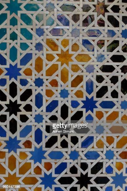 azulejos, real alcazar - geometria fotografías e imágenes de stock