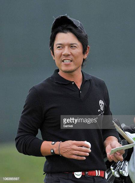 Azuma Yano is seen on the 18th green during the third round of the Mynavi ABC Championship at the ABC Golf Club on October 30, 2010 in Kato, Hyogo,...