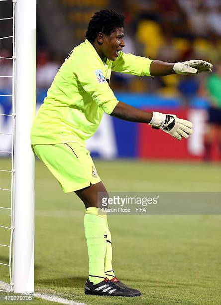 Azume Adams goalkeeper of Ghana gestures during the FIFA U17 Women's World Cup 2014 group B match between Ghana and Korea DPR at Edgardo Baltodano...