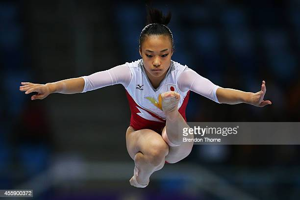 Azumi Ishikura of Japan competes in the Qualifying round of the Women's Balance Beam during day three of the 2014 Asian Games at the Namdong...