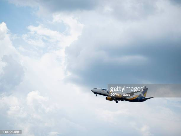 Azur air Boeing 73783N with registration URUTQ airframe seen in the blue sky