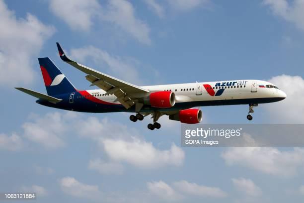 Azur Air Boeing 757200 landing at Phuket Int'l airport