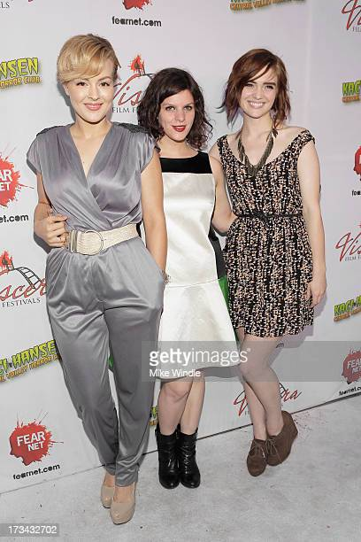 Azure Parsons Jenn Wexler and Kaylee Score arrive at the 2013 Viscera Film Festival Red Carpet Event at American Cinematheque's Egyptian Theatre on...