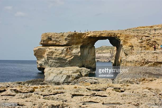 azure window gozo - dwejra stock-fotos und bilder