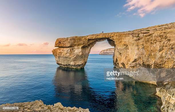 azure window, malta - insel gozo malta stock-fotos und bilder