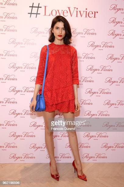Azza Slimene attends Roger Vivier '#LoveVivier' Book Launch Cocktail on May 24 2018 in Paris France
