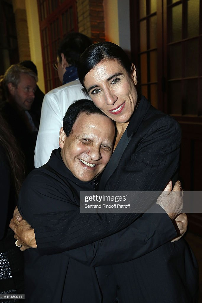 Azzedine Alaia and Bianca Li attend the private Dinner hosted by Surface Magazine And Azzedine Alaia Private Dinner as part of Paris Fashion Week Spring/Summer 2017on October 2, 2016 in Paris, France.