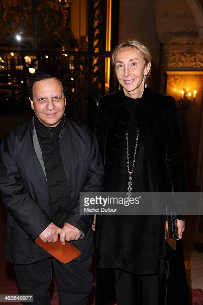Azzedine Alaia and Carla Sozzani attend the Atelier Versace show as part of Paris Fashion Week Haute Couture Spring/Summer 2014> on January 19 2014...