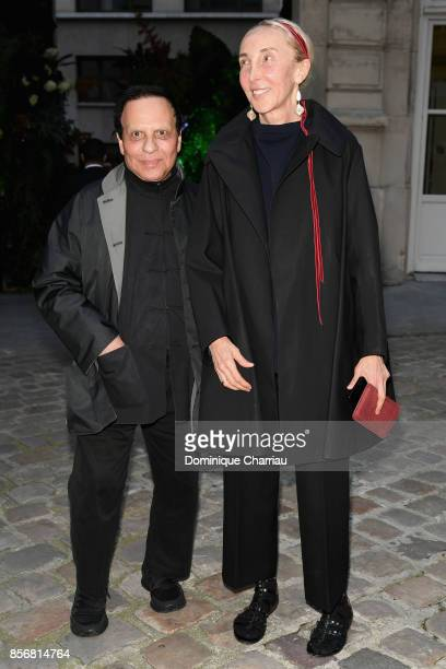 Azzedine Alaia and Carla Sozzani attend the Fashion Tech Lab Launch Event Hosted By Miroslova Duma And Stella McCartney as part of Paris Fashion Week...