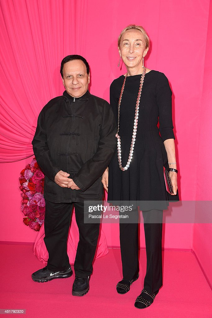 Azzedine Alaia and Carla Sozzani attend the Schiaparelli show as part of Paris Fashion Week - Haute Couture Fall/Winter 2014-2015 on July 7, 2014 in Paris, France.