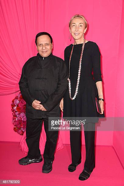 Azzedine Alaia and Carla Sozzani attend the Schiaparelli show as part of Paris Fashion Week Haute Couture Fall/Winter 20142015 on July 7 2014 in...