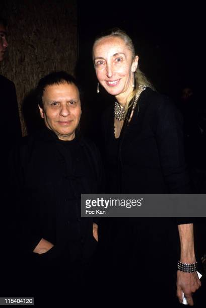 Azzedine Alaia and Carla Sozzani during Paris Fashion Week Pret a Porter Spring/Summer 2006 Louis Vuitton Front Row at Front Row Petit Palais in...