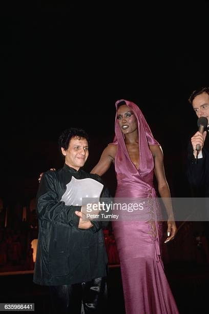 Azzedine Alaia and Grace Jones at the Fashion Oscars