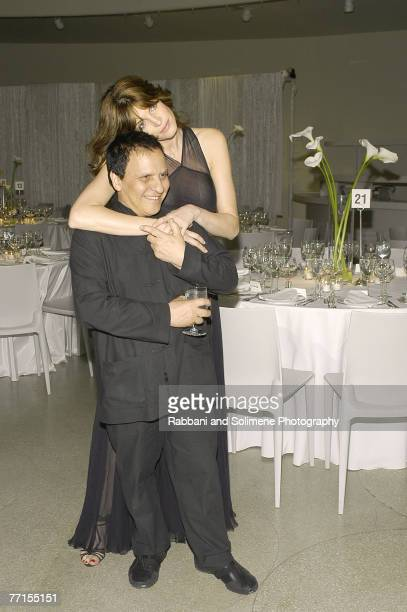 Azzedine Alaia and Stephanie Seymour
