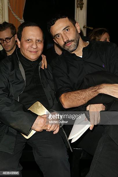Azzedine Alaia attends the Atelier Versace show as part of Paris Fashion Week Haute Couture Spring/Summer 2014> on January 19 2014 in Paris France