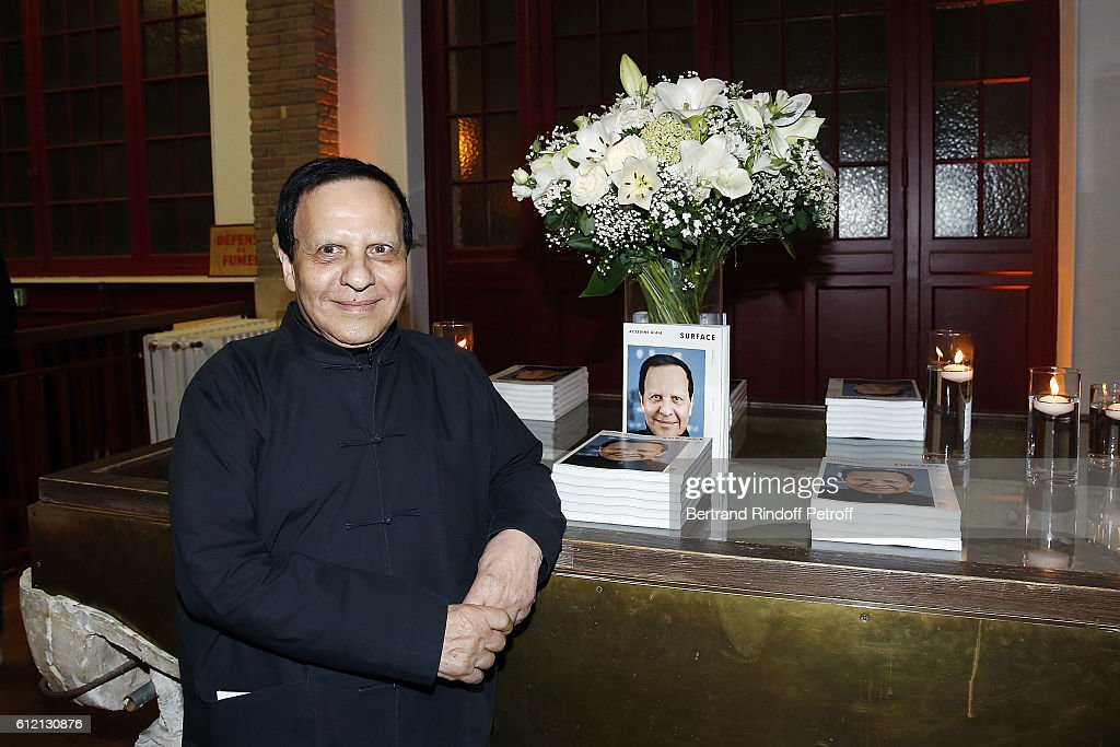 Azzedine Alaia attends the private Dinner hosted by Surface Magazine And Azzedine Alaia Private Dinner as part of Paris Fashion Week Spring/Summer 2017on October 2, 2016 in Paris, France.