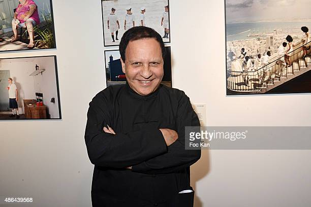 Azzedine Alaia attends the World Press 2015 Exhibition Preview at Galerie Azzedine Alaia on September 3 2015 in Paris France