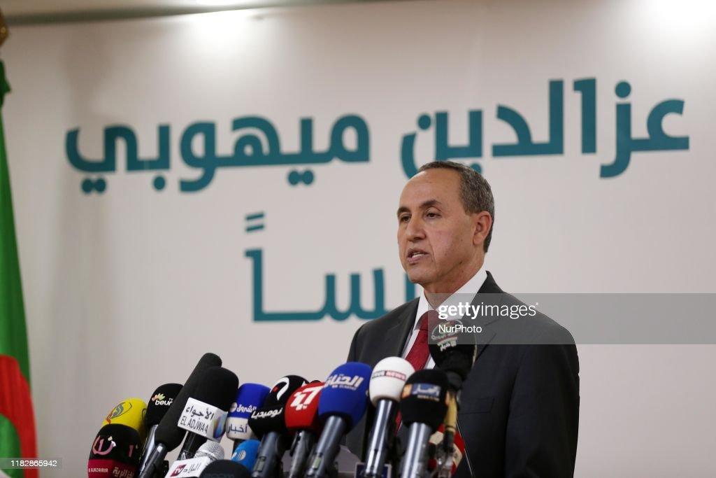 Azzedine Mihoubi, Electoral Campaign For Algerian Presidency : News Photo