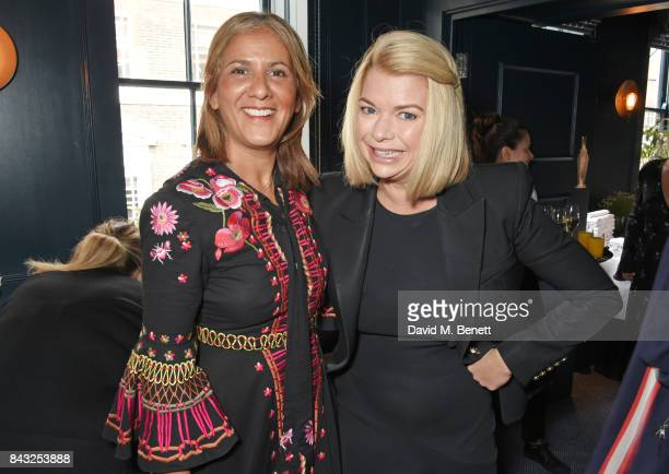 Azzi Glasser and Annalise Fard attend a private breakfast hosted by Azzi Glasser to launch of new fragrance 'After Hours' created by The Perfumer's...