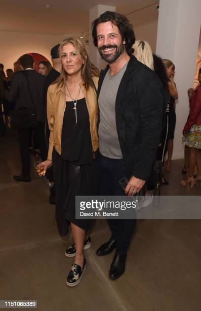Azzi Glasser and Christian Vit attend as JD Malat Gallery celebrate their 1st Anniversary and the private view of their new exhibition 'Echoes of...