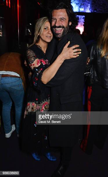 Azzi Glasser and Christian Vit attend The Perfumer's Story evening of Scentsory delights hosted by Aures London Azzi Glasser at Sensorium on March 21...