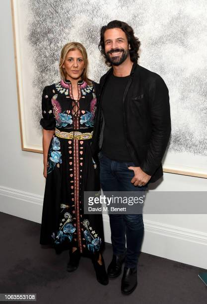 Azzi Glasser and Christian Vit attend the #SheInspiresMe Auction In Support Of Women For Women International at Sotheby's on November 19 2018 in...