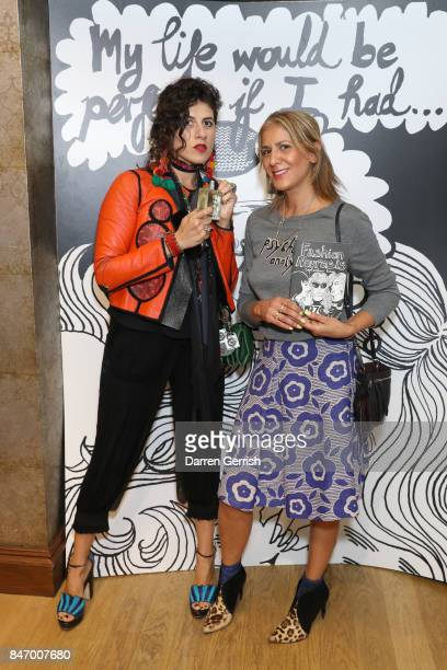 Azzi Glasser and guest attends Liberty London Bella Freud Exclusive Launch Of 'Psychoanalysis' a new fragrance and candle at Liberty London on...