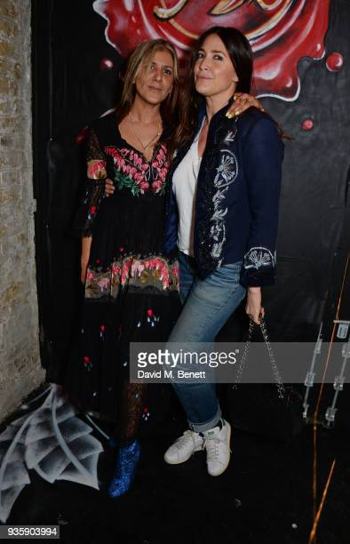 Azzi Glasser and Lisa Snowdon attend The Perfumer's Story evening of Scentsory delights hosted by Aures London Azzi Glasser at Sensorium on March 21...