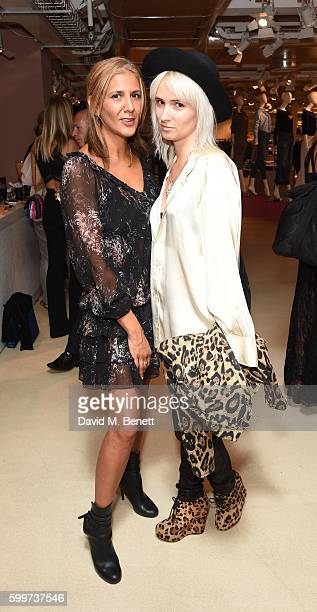 Azzi Glasser and Shhh attend the launch of Bella Freud's new fragrance at Fenwick Of Bond Street on September 6 2016 in London England
