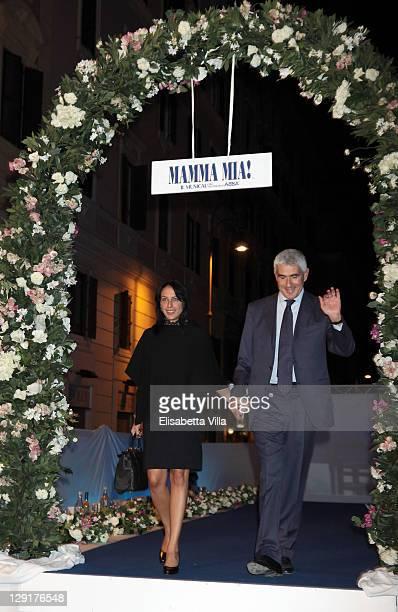 Azzurra Caltagirone and Pier Ferdinando Casini attend 'Mamma Mia' Rome Launch at Teatro Brancaccio on October 13, 2011 in Rome, Italy.