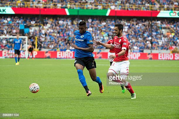 b07 Moraes Ferreira Da Silva Wesley forward of Club Brugge s34 Konstantinos Laifis defender of Standard Liege during the Jupiler Pro League match...