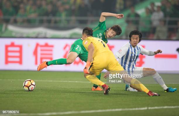 Ba Dun of Beijing Guoan in action during 2018 China Super League match between Beijing Guoan and Guangzhou RF at Beijing Workers Stadium on May 11...