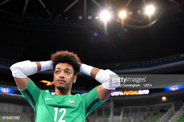 Ba El Maarouf Kerroumi of France looks dejected after been defeated at the UEFA Futsal EURO 2018 group D match between France v Azerbaijan at Stozice...
