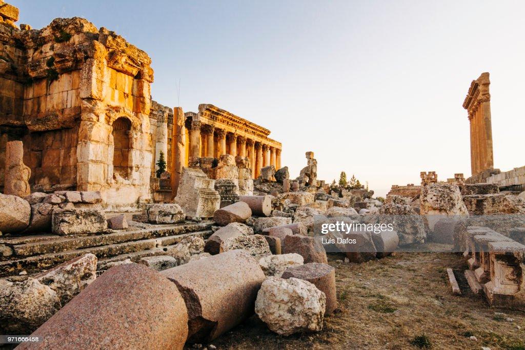 Baalbek, Temples of Jupiter and Bacchus : ストックフォト