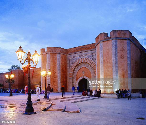Bab al Had, one of the gates leading to the Kasbah des Oudaias, Rabat, Morocco