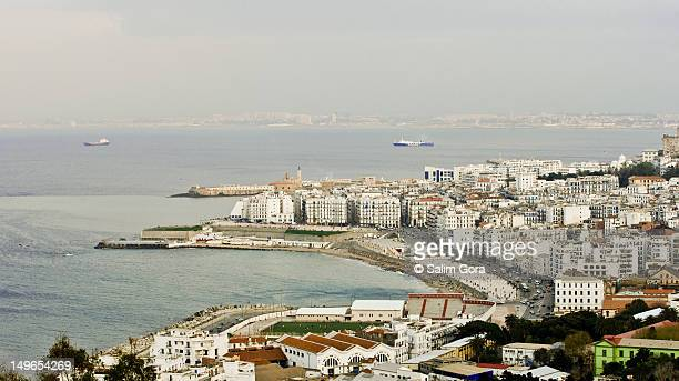 bab el oued from notre dame d'afrique church - algiers algeria stock pictures, royalty-free photos & images