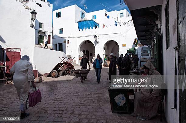 Bab Mkabar entrance into the white medina