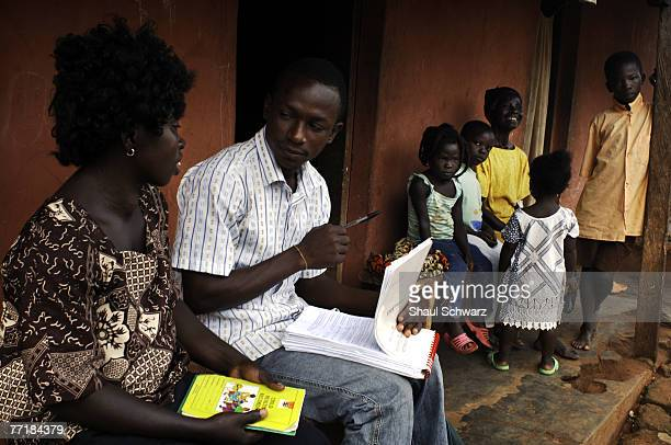 Baba Kofi a field researcher for INDEPTH collecting Health Data as part of a DSS Demographic Surveillance system September 19 2007 at the rural...